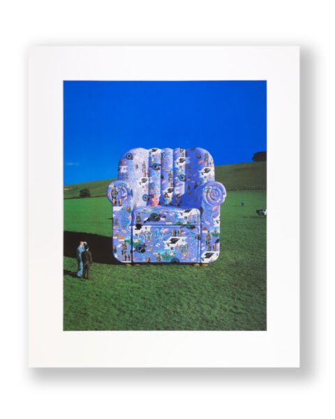 SIGNED PINK FLOYD CHAIR ALBUM COVER PRINT