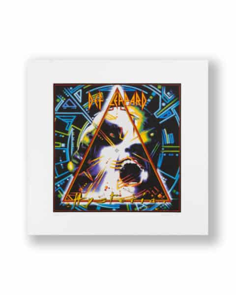 Def Leppard Hysteria signed by Andy Airfix