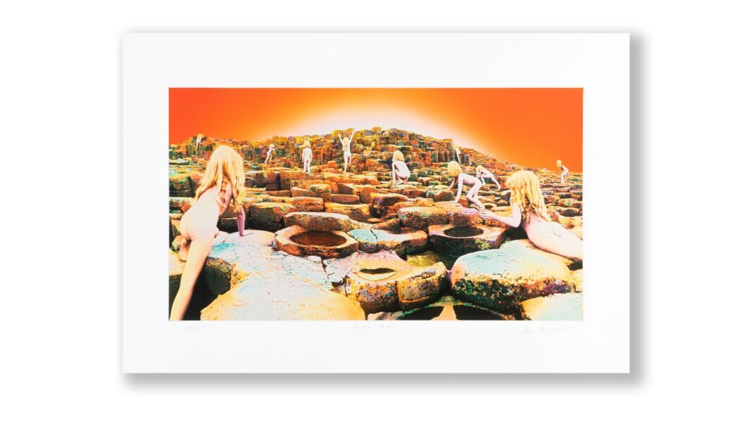 THORGERSON AND POWELL SIGNED LED ZEPPELIN PRINT