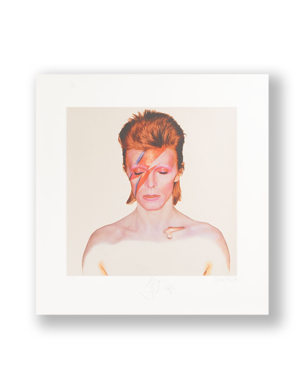 SIGNED BY DAVID BOWIE AND CELIA PHILO
