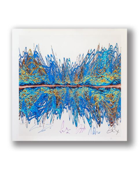 SOUNDWAVES ART PRINT HAND SIGNED BY BAND