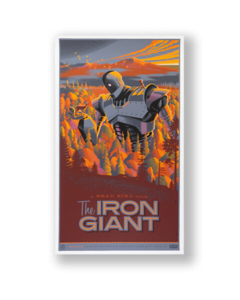 LAURENT DURIEUX IRON GIANT signed film poster