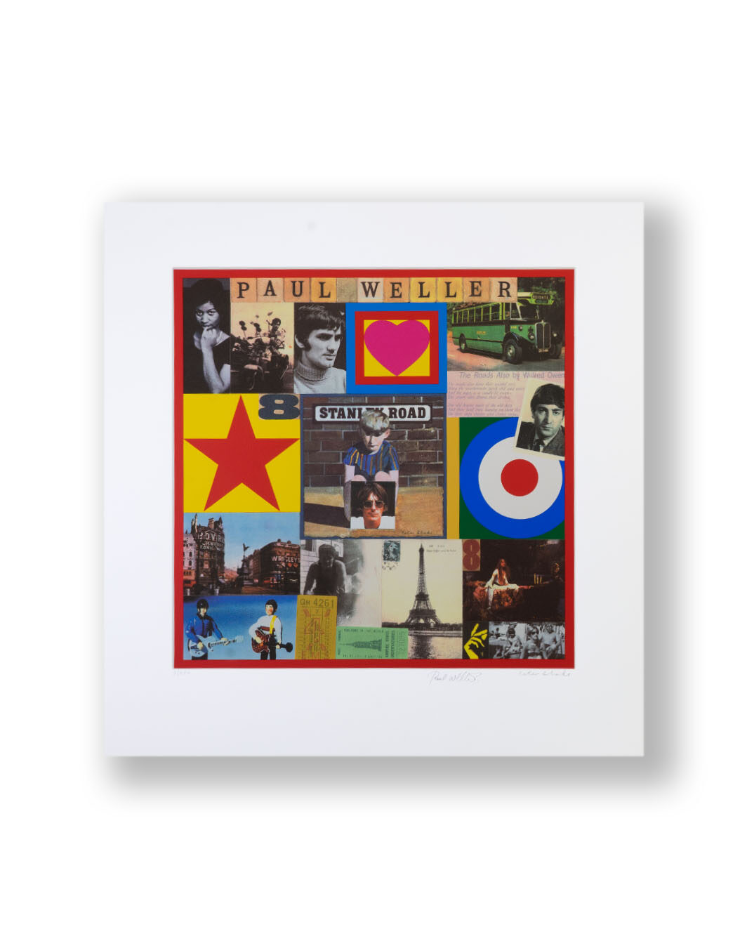 Print SIGNED BY PAUL WELLER AND PETER BLAKE