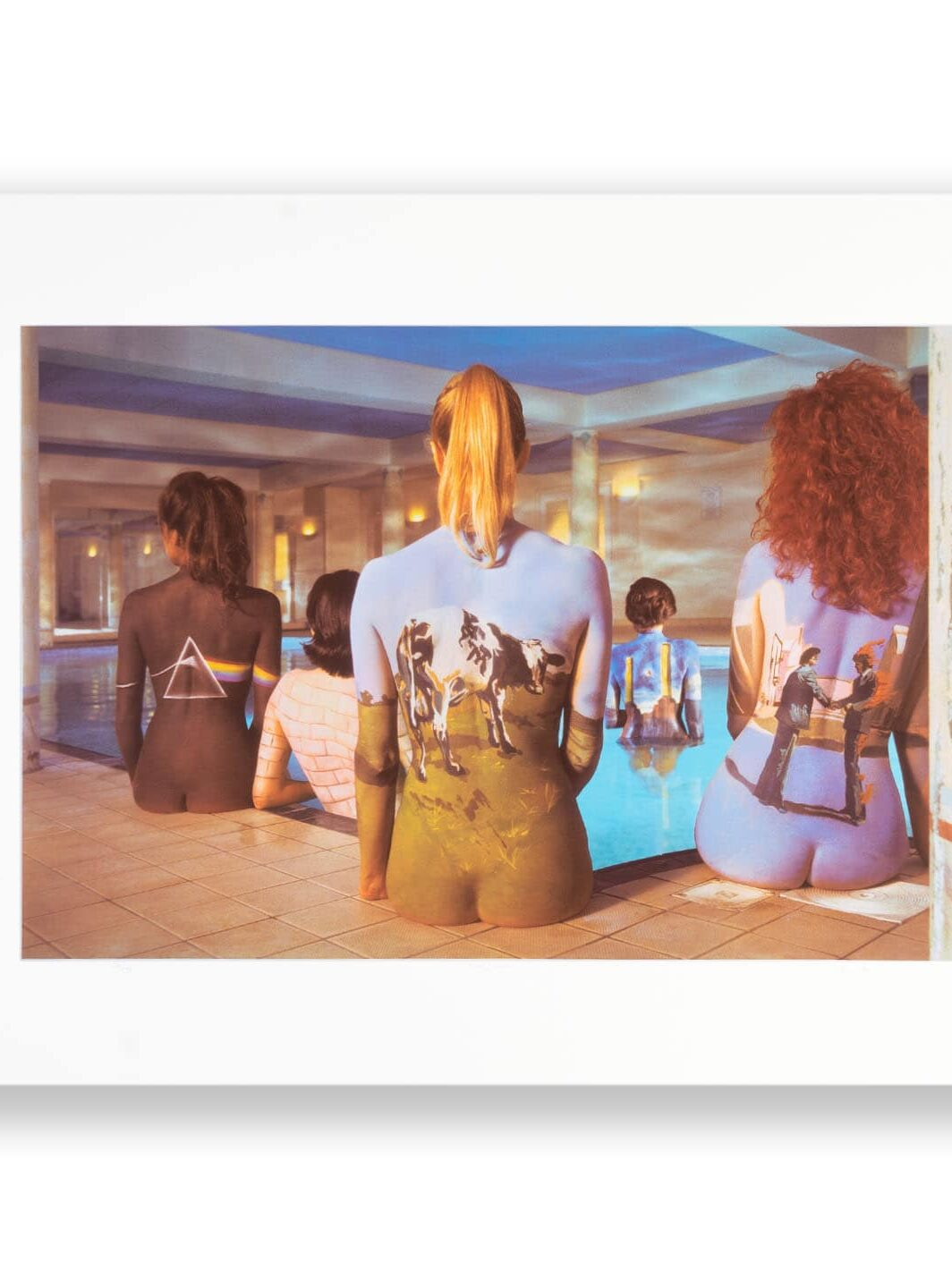 PINK FLOYD BACK 2 BACK PRINT SIGNED BY ARTIST STORM THORGERSON