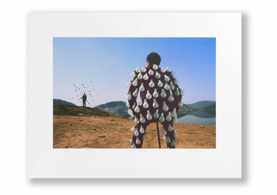THORGERSON & MASON SIGNED PINK FLOYD DELICATE SOUND OF THUNDER PRINT