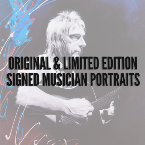 Original & Limited Edition Signed Musician Portraits